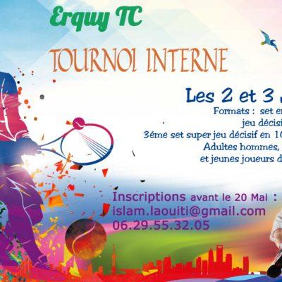 Inscription au Tournoi Interne 2018